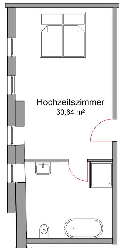 Hochzeitszimmer Hotel Wassermühle Deppendorf