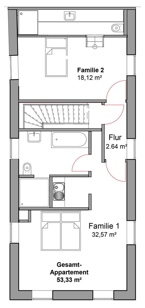 Hotelzimmer 6, 53.33 qm